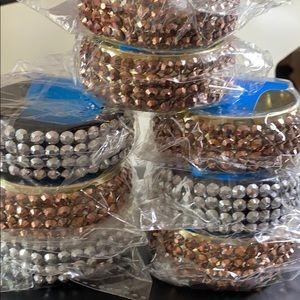 8 Rhinestone cuff bracelets